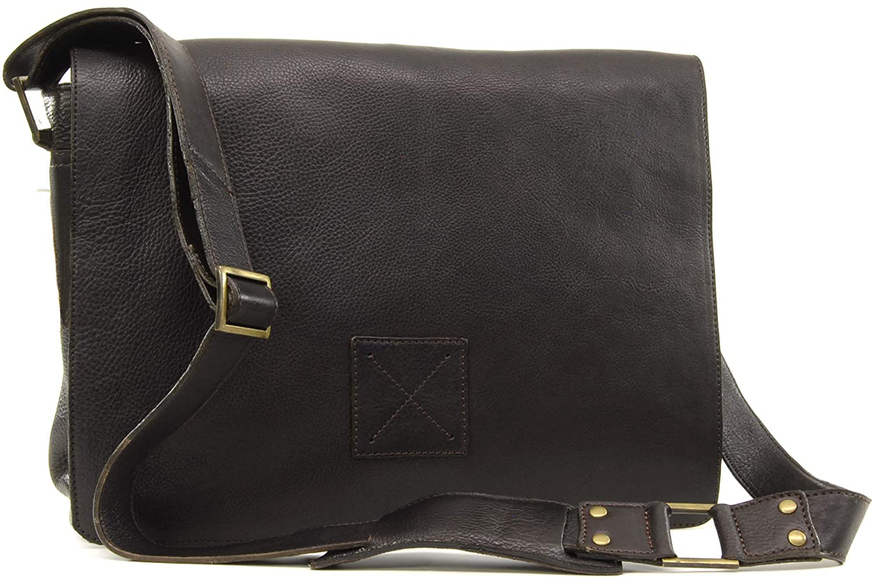 Business Office Work Bag Cross Body//Shoulder//Laptop Bag PEDRO Genuine Leather Ashwood Messenger Bag