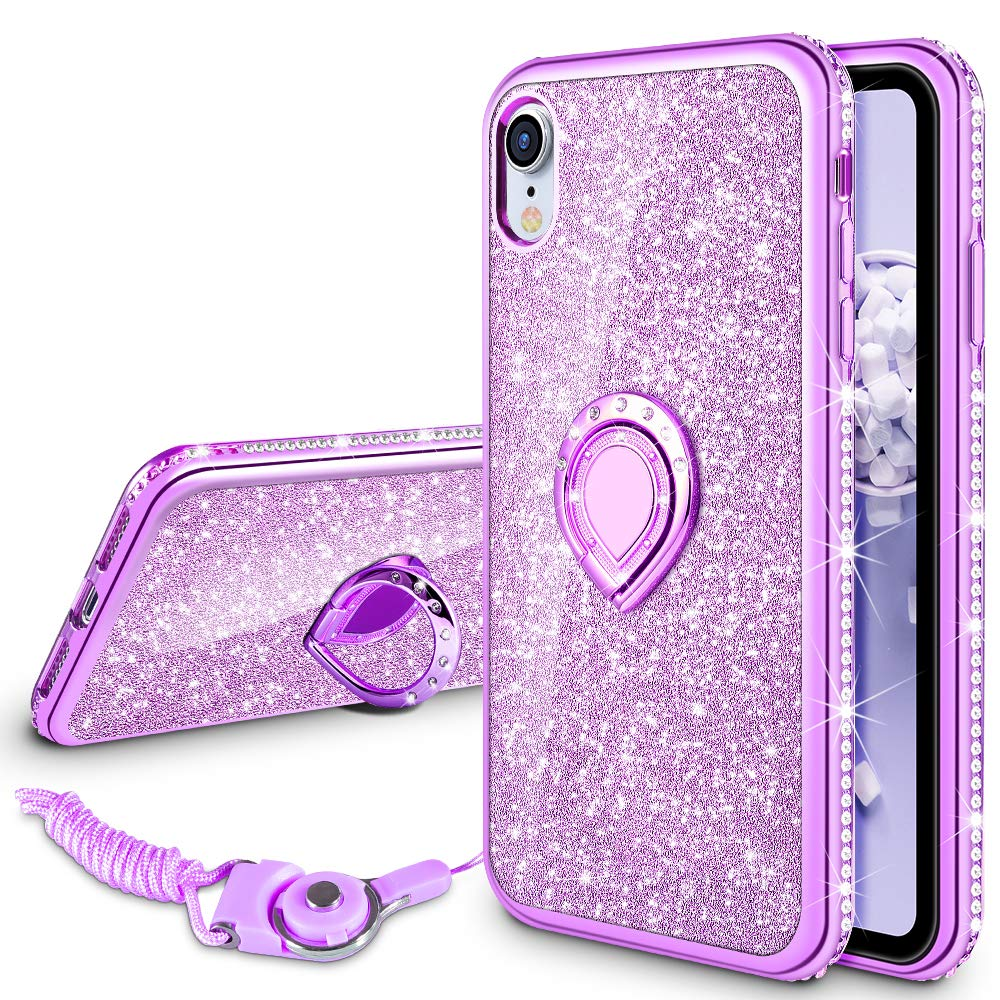 Funda para Iphone Xr Glitter con pie VEGO (7H4JNGHX)