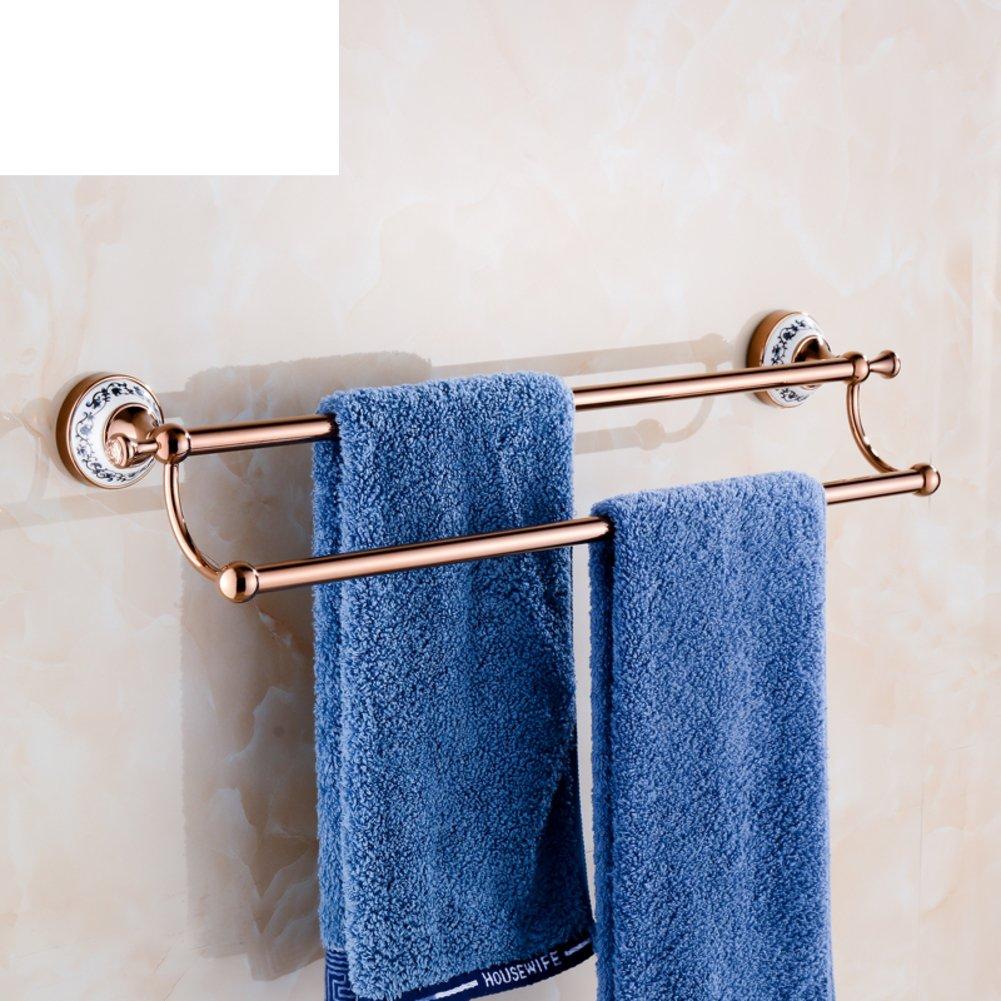 hot sale 2017 Golden towel racks/Towel Bar/Golden copper pipe double ...