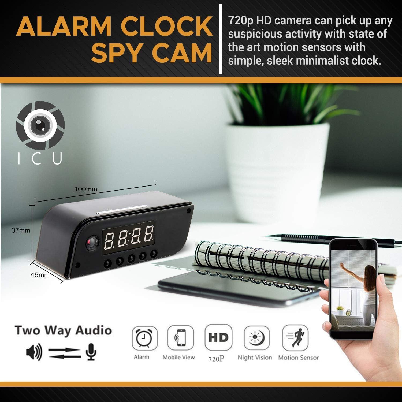 State-of-The-Art Wireless Hidden Camera Clock Motion Detection Alarm Clock Camera HD Recording Camera Clock Spy Camera Clock with Night Vision Clock Spy Camera /& Hidden Cam Remote