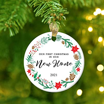 Our First Christmas 2021 Ornament Buy Nurionss Our First Christmas In Our New Home Ornaments 2021 Christmas Wedding Decoration Gift For New Home New Homeowner New Apartment 2 85 Ceramic Ornament New Home 1 Online In Indonesia B08mpqlzg3