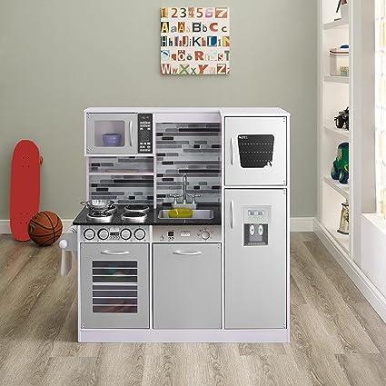6bab03fa25d4d Amazon.com  Naomi Kids Gourmet Kitchen Set White  Toys   Games