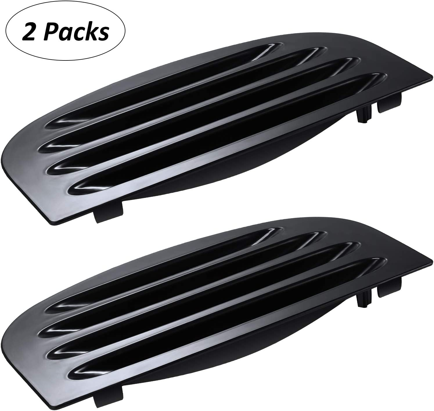 2 Pieces WR17X11655 Refrigerator Drip Tray Overflow Grille Refrigerator Dispenser Compatible with GE Replace PS964306 AP3775570, Black