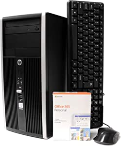 HP 6200 Desktop Computer Tower, Intel Quad Core i5 3.1GHz, 16GB RAM, 1TB HDD, Microsoft Windows 10 Professional, Microsoft Office 365 Personal, DVD, Keyboard, Mouse, WiFi, Refurbished PC (Renewed)