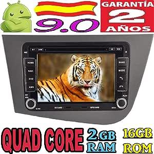 Seat Leon Android 9.0 Quad Core 2GB RAM 16 GB ROM GPS Radio Coche DVD AUTORADIO WiFi 3g 4g navi navegador Internet/CANBUS GPS/Mirror Link/Garantia 2 AÑOS …: Amazon.es: Electrónica