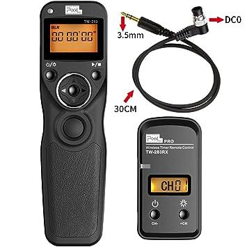 PIXEL TW-283/DC0 Control Remoto Disparador Inalámbrico para Nikon Cámara D850 D800 D810 D1 D2 D300series D700 D500 D200 D4 D5 N90s F5 F6 F100 F90 F90X D3s: ...