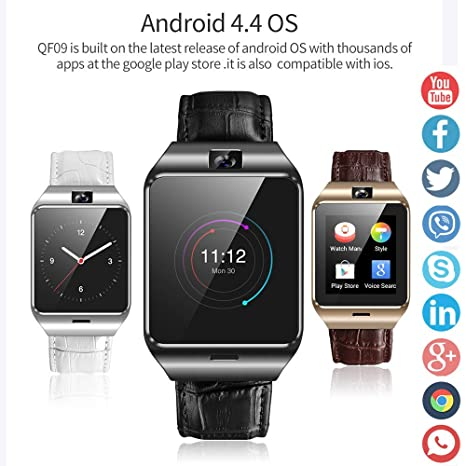 Amazon.com: NXDA 2018 BT4.0 3 Dial Styles Color Screen Anti-lost Pedometer 3G SIM Phone Mate Camera 512MB+4GB Smart Bracelet Smart Watch Fitness Tracker for ...