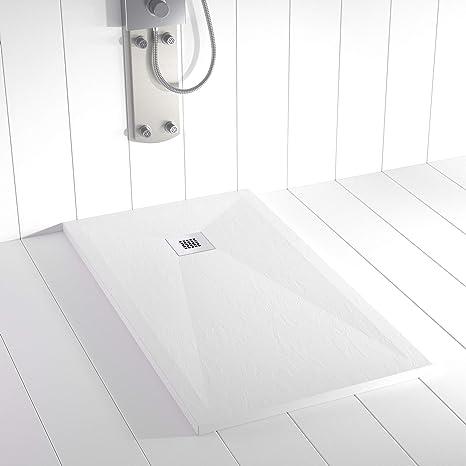 Plato de Ducha PLES Resina Stone Blanco - 200x100 cm: Amazon.es: Hogar