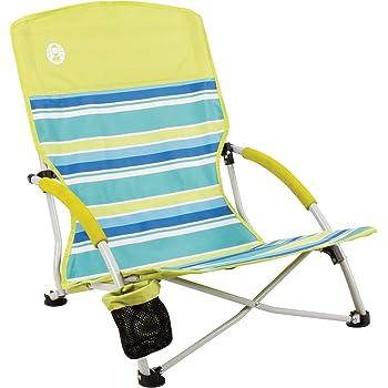 Set 2 Sillas Plegable Con Bolsillos 139kg Playa Camping