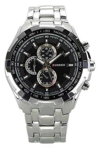 Reloj de hombre - CURREN Reloj de pulsera de acero inoxidable de hombre (Correa de