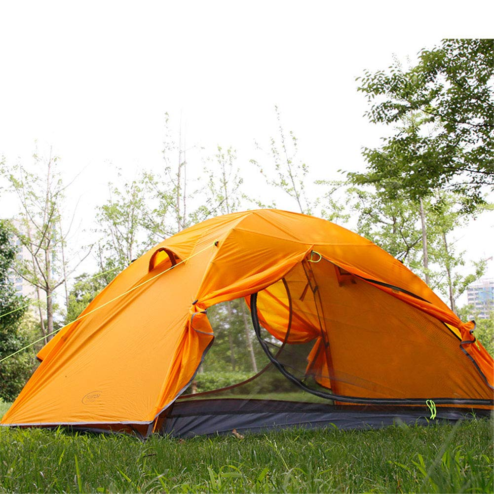 Zelt, Leichtgewicht im Freien Camping Zelt Doppel-Ebene 2 Personen Windproof Wasserproof Tourist Zelte