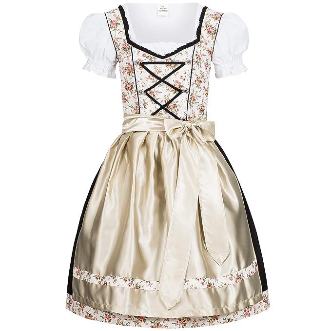 Amazon.com: Dirndl Set Babs 3 piezas: vestido blusa y ...
