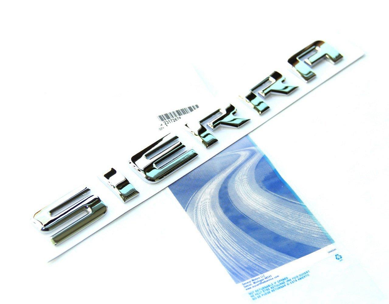 Yoaoo 3pcs OEM Chrome SIERRA Nameplates Letter Emblems Badges Glossy Alloy for Chevrolet Gm 2500HD 3500HD Sierra