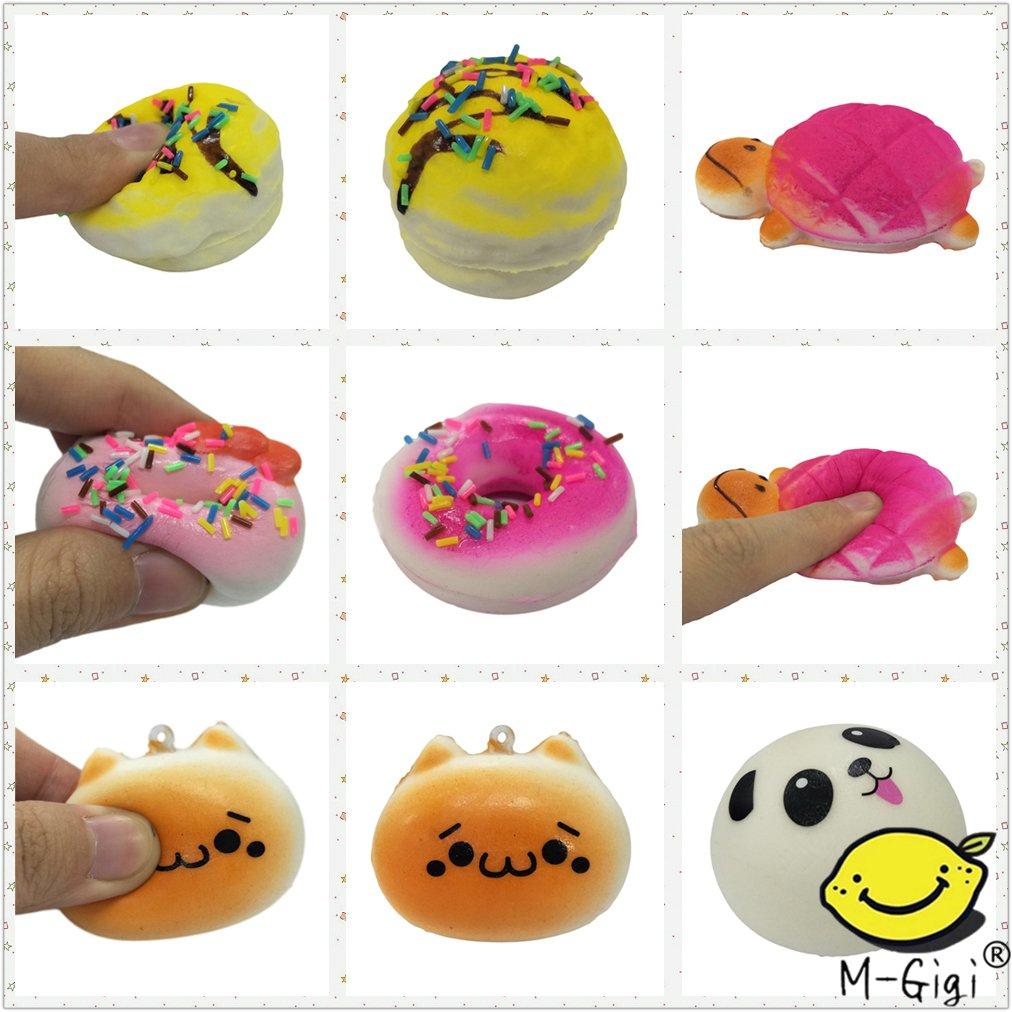 M-Gigi Random Squishy Cream Scented Slow Rising Kawaii Simulation Bread Children Toy, Soft Squishy Cake/Panda/Bread/Buns Phone Straps, Jumbo/Medium/Mini, 20 Piece by M-Gigi (Image #8)