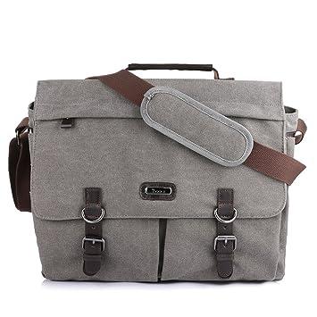 Amazon.com: OXA Laptop Messenger Bag 15.6 Inch Large Canvas ...