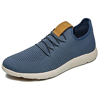 JIEANTE Men's Walking Shoes Slip On Sneakers Fashion Casual Shoes Ultra Lightweight Athletic Gym Shoes 50860 Navy 9.5