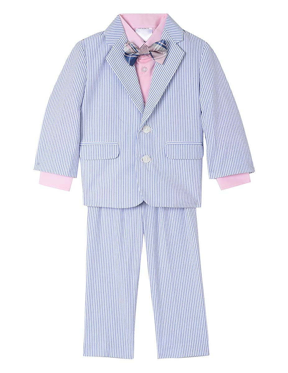 6393db43123 Amazon.com: Nautica Baby Boys 4-Piece Suit Set with Dress Shirt, Jacket,  Pants, and Bow Tie: Clothing