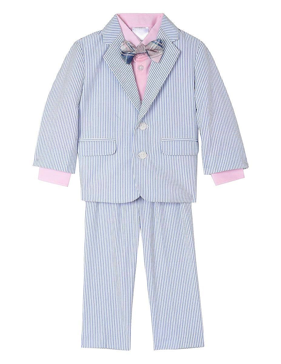 Nautica Baby Boys' 4-Piece Formal Dresswear Suit Set with Bow Tie Nautica Dresswear Children' s Apparel