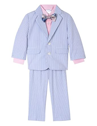 ad2997f56d86 Amazon.com  Nautica Baby Boys 4-Piece Suit Set with Dress Shirt ...