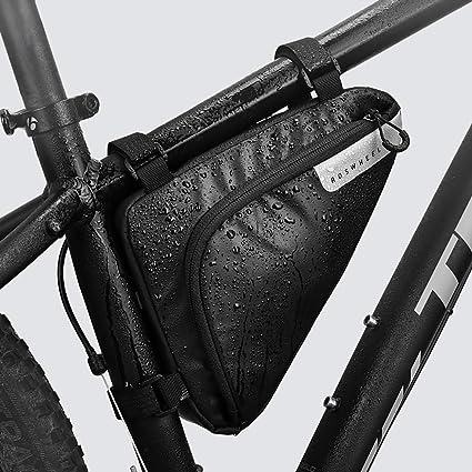 R/ésistant /à leau 1,5 L Triangle Sacoche V/élosacoche Noir Roswheel Sac de Cadre