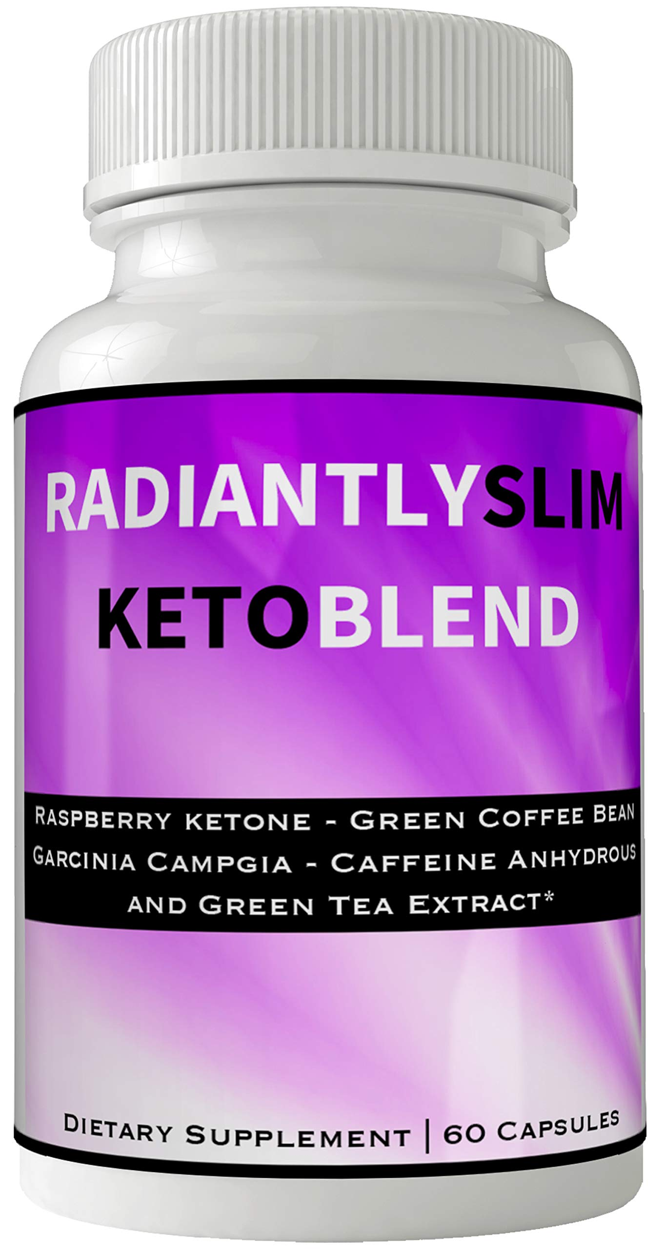 Radiantly Slim Keto Blend Pills Weight Loss Supplement, Radiantly Slim para Bajar De Peso, Advanced Weightloss Fight Hunger Pangs with Keto Diet Pills