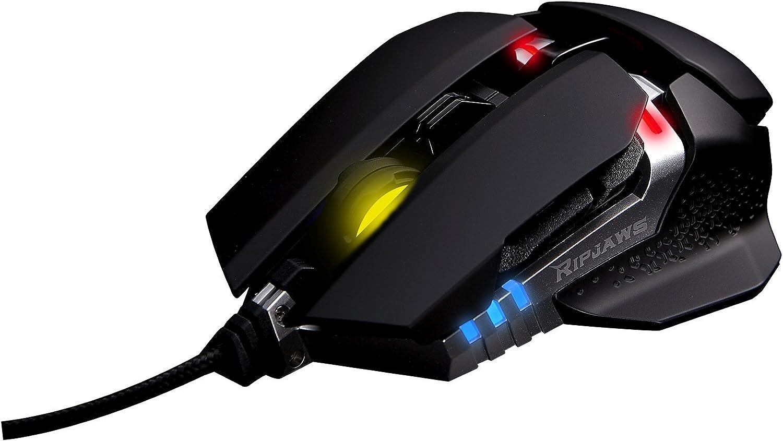 G.Skill RIPJAWS MX780 RGB - Ratón (Ambidextro, Laser, USB, 8200 dpi, 111 g, Negro, Plata)