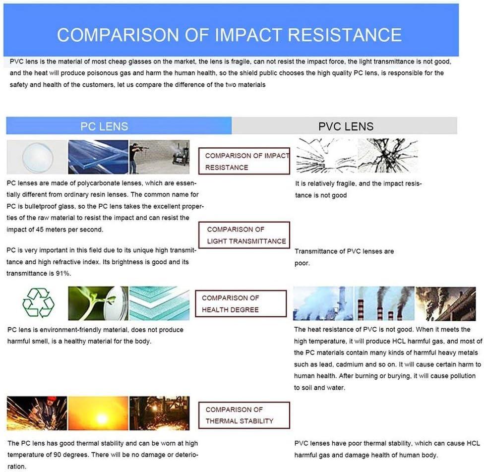 LouiseEvel215 Protection UV Lunettes de s/écurit/é Anti-Impact Laboratoire Laboratoire Lunettes de Laboratoire Lunettes PC Lunettes Anti-poussi/ère Lunettes l/ég/ères