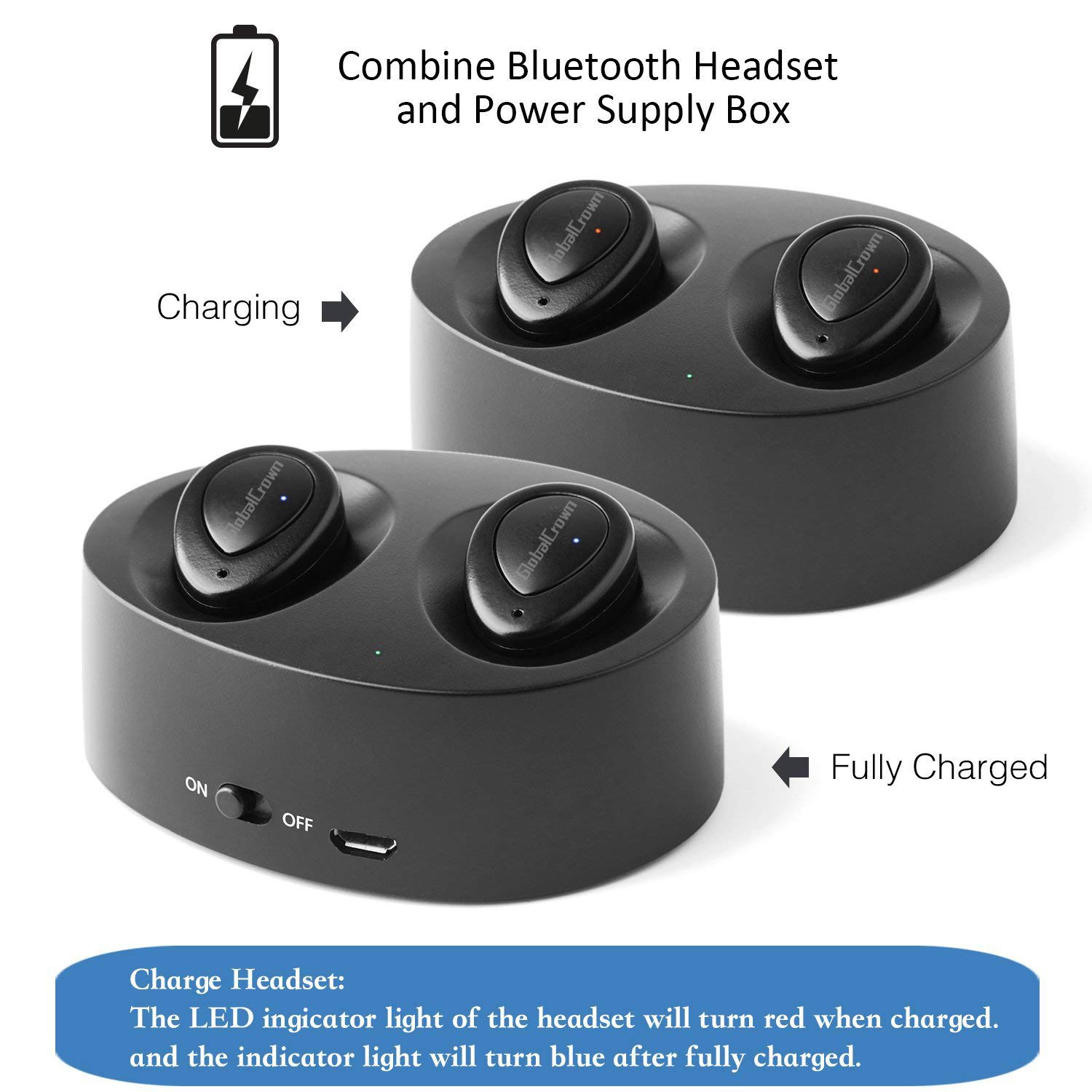 Globalcrown Bluetooth Headphones Wireless Tws K2 Twins Stereo Bt Pleasequick Question On Light Fixture Wiring Pics Attached True Earbuds Bluetoothmini Invisible Earphones Headsets With