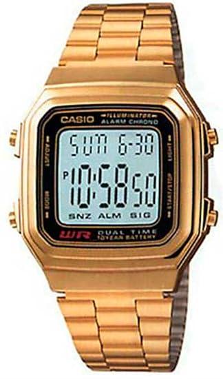 059a87aca48d1a Casio Men's A178WGA-1A Gold Stainless-Steel Quartz Watch with Digital Dial