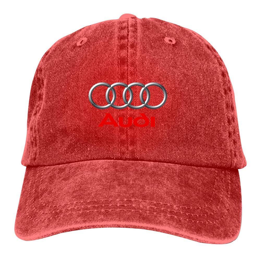 ingxianze Au-Di Car Logo Unisex Denim Hat Adjustable Fashion Baseball Cap Casual Sport Multifunction Cap