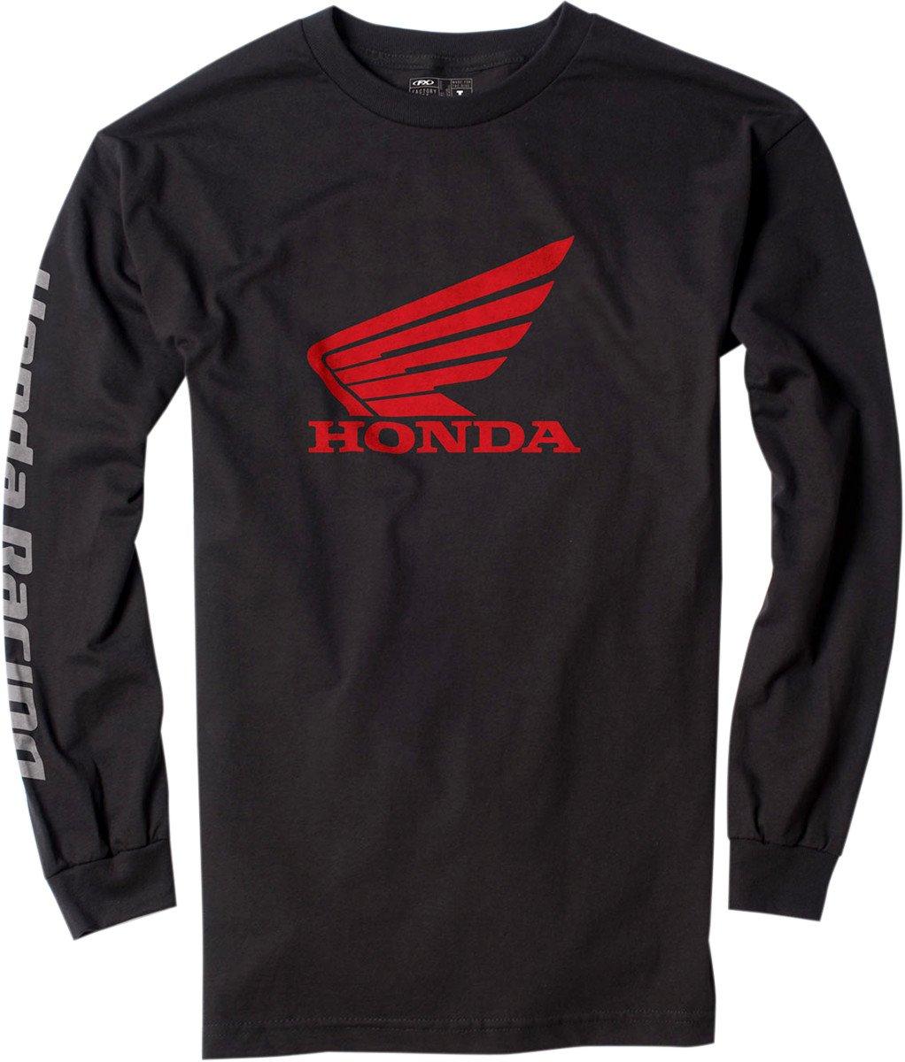 Factory Effex 17-87312 'HONDA' Long Sleeve T-Shirt (Black, Medium)
