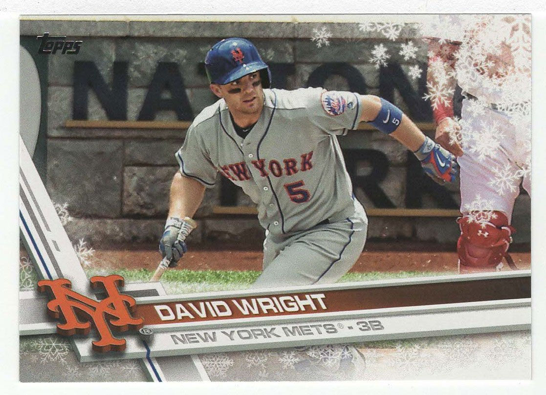 Amazoncom David Wright Baseball Card 2017 Topps Walmart Holiday