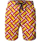 wwoman Pantalones Cortos de natación para Mujer Pantalón de Bandera de España Tejido de Secado rápido Shorts de Playa: Amazon.es: Ropa y accesorios
