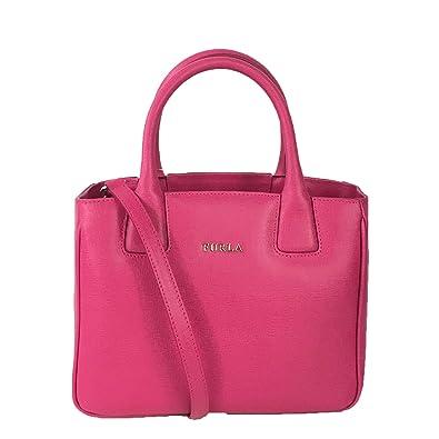 85318f0e1e2 Amazon.com: Furla Camilla Saffinao Leather Small Satchel, Gloss Pink: Shoes