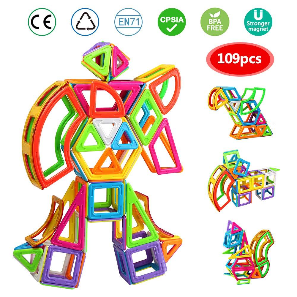 infinitoo IN6-A004 Jeu de Blocs de Construction aimant/és 109 pi/èces Taille XXL