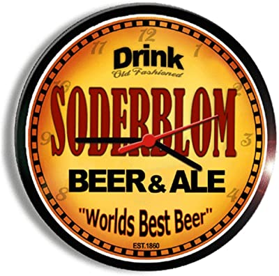 SODERBLOM beer and ale cerveza wall clock