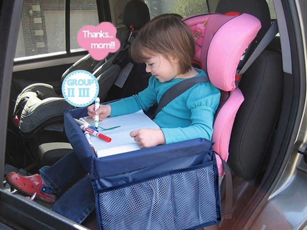 anche per treno o aereo vassoio da viaggio per bambini impermeabile portaoggetti per auto per giocare seduti sul seggiolino MuStone