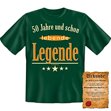 Fun Funny Slogan T Shirt With 50 Years And Living Legend
