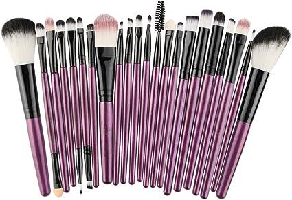 Cocoty-store 2019 Make up Brushes,22 Pcs Professional Makeup Brush Set Synthetic Kabuki Face Blush Lip Eyeshadow Eyeliner Foundation Powder Cosmetic Brushes Kit(Púrpura): Amazon.es: Belleza