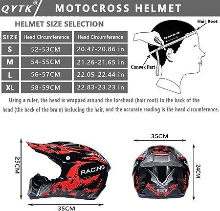 Gaoda Motocross Motorradhelm Downhill Fullface Helm Bmx Mtb Helm Mit Handschuhen Brille Unisex Motocross Helm Für Erwachsene Dh Helm Mtb Helm Passend Für Alle Jahreszeiten M Auto
