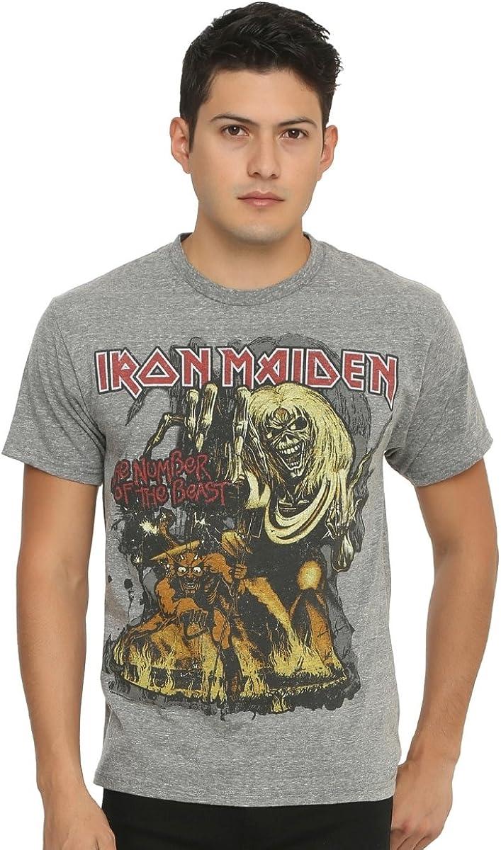 Hot Topic - Camiseta de Iron Maiden The Number of The Beast: Amazon.es: Ropa y accesorios