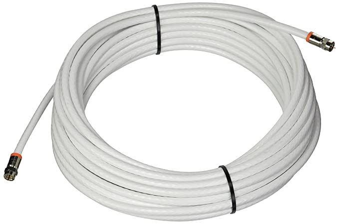 Amazon.com: Low Loss RG-6 Coaxial Digital Audio Video Cable White, F Pin Coax Extension UL, 50-Feet: Electronics