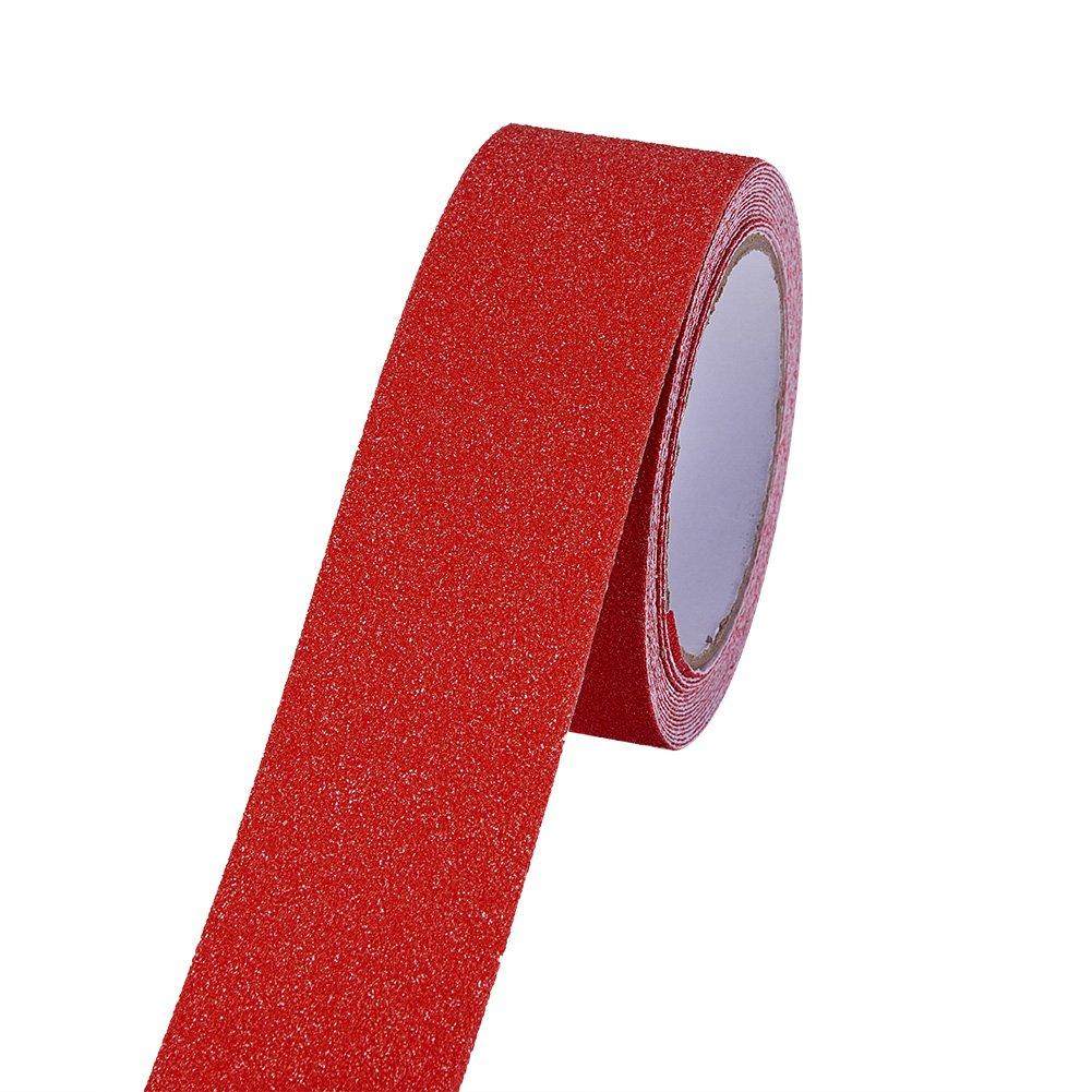 RED Safety Adhesive Sticker Grip Non Skid Tape Anti-Slip Adhesive Stickers Mat For Stairs Floor Stairway 5Mx5CM