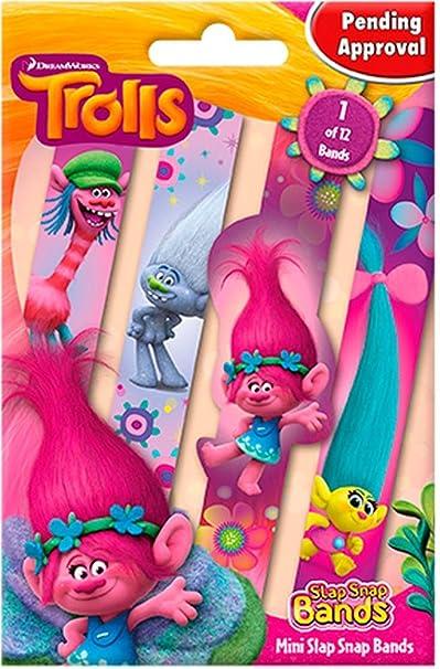 Trolls Pulseras Mini Slap-Snap-Bands (24): Amazon.es: Juguetes y juegos