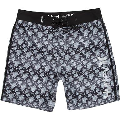 "890186def0 Hurley Men's Micro 19"" Boardshorts Black Swimsuit Bottoms"