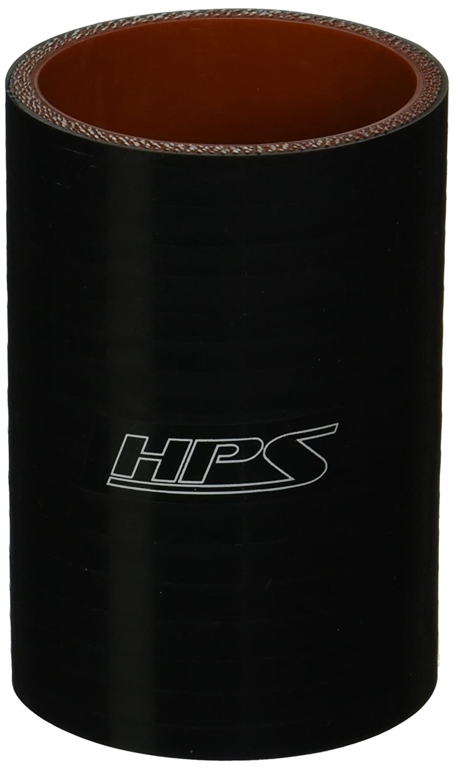 HPS HTSC-238-L4-BLK Silicone High Temperature 4-ply Reinforced Straight Coupler Hose Black 4 Length 2-3//8 ID HPS Silicone Hoses 85 PSI Maximum Pressure 2-3//8 ID 4 Length