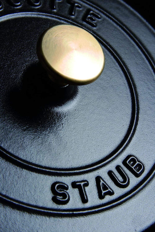 Ronde 22 cm STAUB Cocotte en Fonte Noir Mat 2,6 L