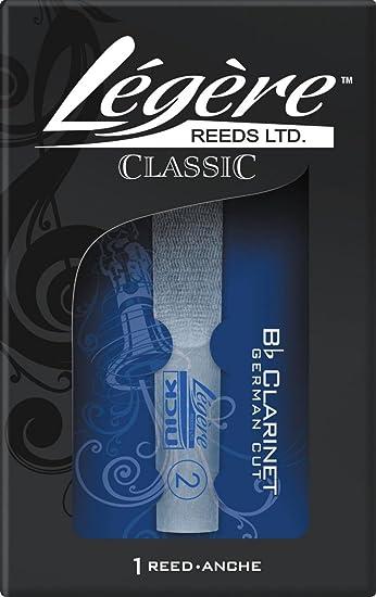 Legere Reeds Blatt Stärke 3 für deutsche B-Klarinette Kunststoff Stärke 3
