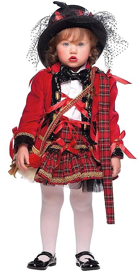 d44234af33ee Costume di Carnevale da Scozzese NEONATA Vestito per neonata Bambina 0-3  Anni Travestimento Veneziano