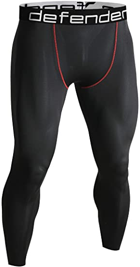 d802121cf Defender Men's Sports Compression Pants Under Jerseys Tights Shorts Fits  Soccer BR_XS